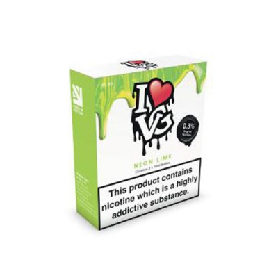 Neon Lime TPD Compliant 10ml Multipacks Of 3 By I Love VG