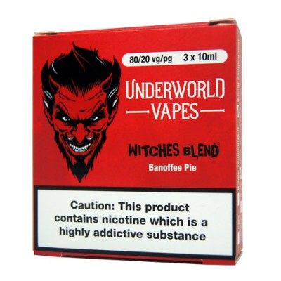 3 X 10ml Witches Blend E-Juice by Underworld Vapes